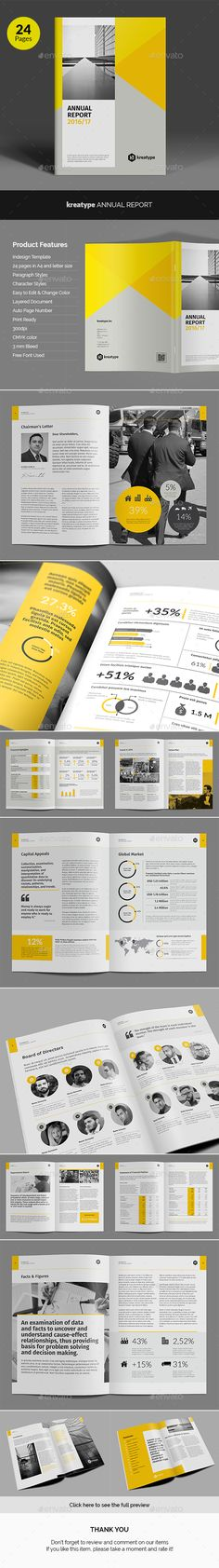 Kreatype Annual Report Template InDesign INDD. Download here: http://graphicriver.net/item/kreatype-annual-report/16511713?ref=ksioks