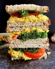 Turmeric Chickpea Salad - easy vegan sandwich recipe.