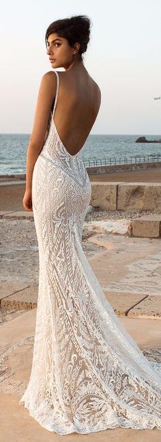 Costas de vestido da Galia Lahav - corte princesa e costas abertas