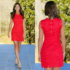 Vestido corto rojo brillante