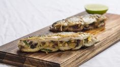 On the barbie: Grilled mullet with capers, currants and pine nuts.