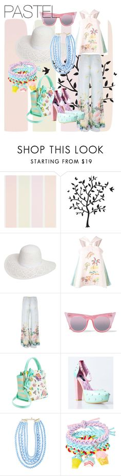 """LOVE IN PASTEL"" by chere18 ❤ liked on Polyvore featuring Godinger, Dorothy Perkins, Peter Pilotto, Paola Quadretti, Le Specs, Betsey Johnson, Iron Fist and BaubleBar"