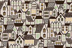 Amazon.co.jp   コスモテキスタイル 北欧の森 オックス 約110cm巾×1mカット AP45306 col.1C   ホビー 通販