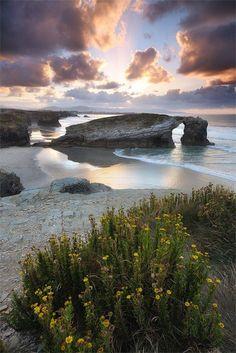 Playa de las Catedrales, Ribadeo, Galicia, Spain by Michael Gross. #spaincoast