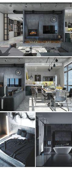New apartment goals loft 22 ideas Wood Interior Design, Interior Exterior, Interior Design Living Room, Interior Architecture, Apartment Goals, Apartment Design, Casa Loft, Modern Loft, Cool Apartments