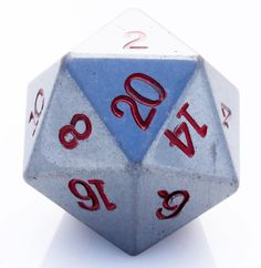 If you're looking for a d20 that rocks, then look no further! This giant d20 is made from real Hematite stone, and is roughly twice as large as a standard d20. The die is heavy in the hand and looks s