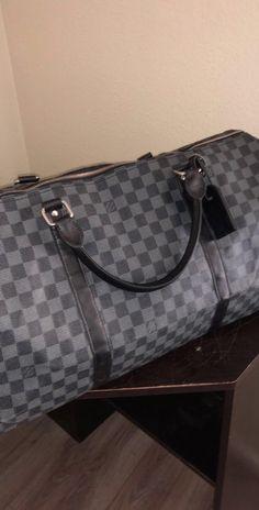 ef27f5c7ffea Louis Vuitton Monogram Damier Graphite Keepall Bandouliere 55 M40605 Duffle  Bag  fashion  clothing  shoes  accessories  mensaccessories  bags (ebay  link)