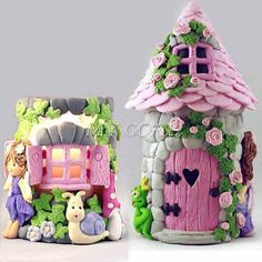 3D Fairy Elf House Door Silicone Fondant Mould Cake Decorating Chocolate Mold