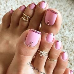 Cool New Nail Designs for Your Toes to Show off This Season ★ See more: https://naildesignsjournal.com/new-nail-designs-toes/ #nails