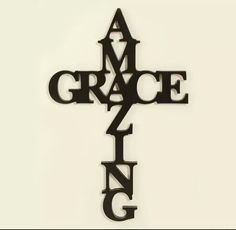 Cross made with the words Amazing Grace.
