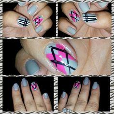 Plaid nail design Plaid Nail Designs, Plaid Nails, Makeup, Hair, Beauty, Make Up, Beauty Makeup, Beauty Illustration, Bronzer Makeup