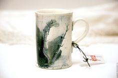 Купить Кружка керамическая Август Любинки_17 - белый, керамика ручной работы, кружка