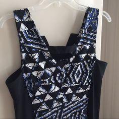 "BCGB MAXAZRIA Dress BCBG MAXAZRIA Dress. Length 35"". Pit to pit 17"". Good condition. Cute dress. Material feels like poly/cotton blend BCBGMaxAzria Dresses Mini"