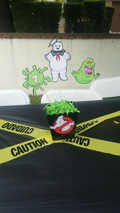Ghostbusters birthday theme for Adrians 7th party