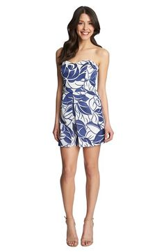 1.State Strapless Split Panel Romper available at #Nordstrom