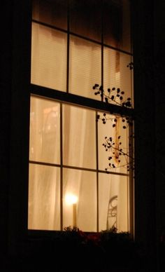 Night Windows: A lamp lit in a window is proof of another life. Proof by a lamp lit in a house. Proof by the stumble of a passer-by. Night Window, Window View, Window Candles, Window Dressings, Through The Window, Cool House Designs, Lamp Light, Night Light, Ramen