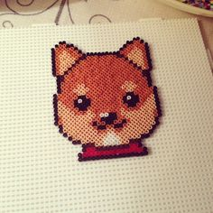 Shiba Inu dog hama beads by popbitesitself