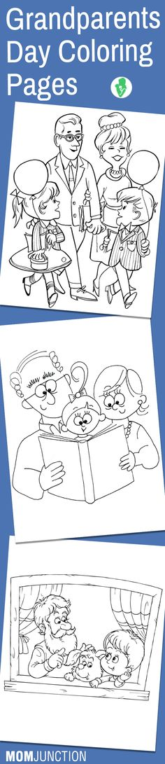 Top 10 Grandparents Day Coloring Pages For Your Little Ones Planning to celebrate this grandparent's day in a special and fun manner? How about giving your kids these 10 free printable grandparents day coloring pages Grandparents Day Activities, Grandparents Day Cards, National Grandparents Day, Family Activities, Kindergarten Crafts, Preschool Crafts, Coloring Pages, Footprint Art, Holiday Crafts For Kids
