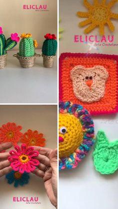 Crochet Cactus, Crochet Flowers, 5 Minute Crafts Videos, Craft Videos, Crochet Hooks, Crochet Earrings, Mandala, Deco, Handmade Gifts