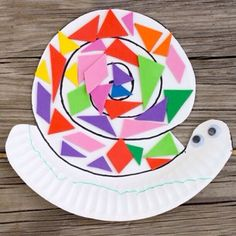 Need a quick and fun art project for your little ones to tackle this afternoon or evening? Try this fun paper plate snail. paper plate glue goggly eyes (optional) colored paper and a glue stick 1. Draw the snail pattern on your paper plate. 2. Cut the top part to make a snail shape. 3. Use construction paper, pain, tissue paper or stickers to decorate. 4. Glue on goggly eyes or draw them. 5. Color the body. 6. You can even add pipe cleaner antennae! You can find more detailed