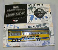 THE BEATLES COLLECTION 1997 CORGI CLASSIC DIECAST MAGICAL MYSTERY TOUR BUS LESS THAN 21 HOURS UNTIL GONE FOR GOOD