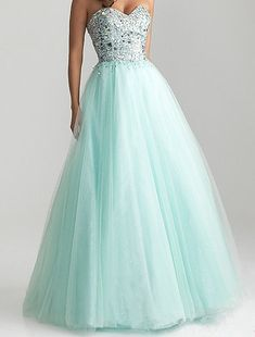 Beaded Sweetheart Prom Dress Ball Gown Floorlength by XOXOdress, $149.00