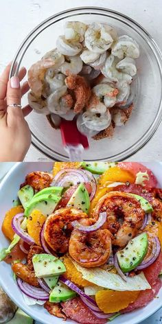 Shrimp Salad Recipes, Seafood Recipes, Shrimp Salads, Healthy Dinner Recipes, Vegetarian Recipes, Cooking Recipes, Cajun Shrimp, Grilled Shrimp, Seafood Dinner