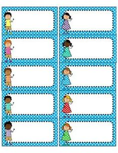 Bright Polka Dot and Kids Avery 5163 Labels {Editable} Classroom Labels, Classroom Displays, Classroom Organization, Classroom Management, Printable Name Tags, Printable Labels, Free Printables, Name Activities, Organized Teacher