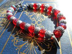 """Toto's Collar"" Bracelet Black hemp and acrylic beading $5.99 at Volo-Press.com!"