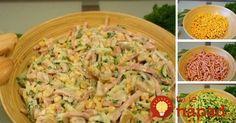 Rýchly, chutný a lahodný. Doprajte si svieži zeleninový šalát so šunkou a ľahkou jogurtovou zálievkou.