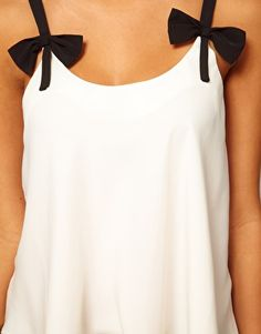 Cami With Contrast Bow Straps