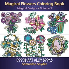 Magical Flowers Coloring Book