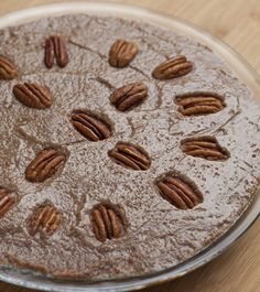OMG...vegan/soy-free/gluten-free Raw Pecan Love Pie by Kim Snyder.  I can't WAIT to try this.