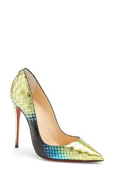 Christian Louboutin 'So Kate' Painted Genuine Python Pointy Toe Pump available at #Nordstrom