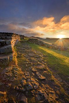 "Hadrian's Wall, Northumberland - ""Long before there were Englishmen and Scotsmen, long before they had their own subjects of contention and violence, long before there were Elliots or Fenwicks or Armstrongs or Ridleys, the frontier had been made, the line drawn.""  (fm ""The Steel Bonnets - George McDonald Fraser)"