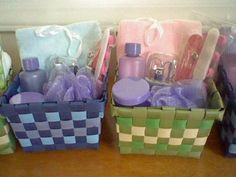 Spa party baskets
