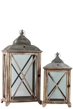 Large Wooden Lantern Set | Southern Inspired Decor