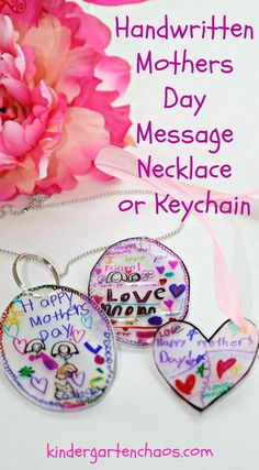 Help turn a child& artwork or handwriting into a necklace or key chain with just a few simple steps. Mother& will love this for Mother& Day Gifts! Diy Gifts For Mom, Mothers Day Crafts For Kids, Diy Mothers Day Gifts, Parent Gifts, Gifts For Family, Mother Day Gifts, Mothers Day Ideas, Mother Daughter Crafts, Diy Mother's Day Crafts
