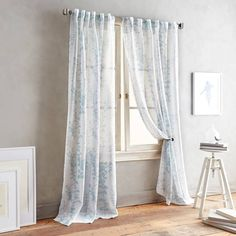 Product Image for DKNY Front Row Back Tab Sheer Window Curtain Panel 1 out of 2