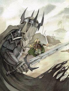 Эовин и Король-чародей  Eowyn and the Witch King by Lamorien on DeviantArt