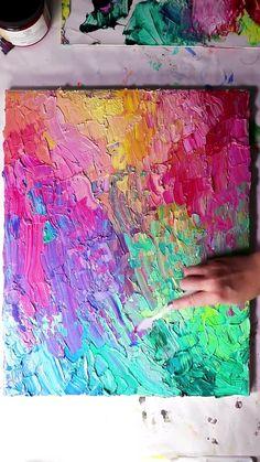 Canvas Painting Tutorials, Diy Canvas Art, Diy Painting, Decoration St Valentin, Diy Art, Art Lessons, Acrylic Artwork, Acrylic Painting Canvas, Art Projects