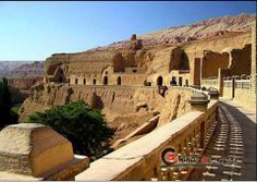 Ancient city of Gaochang, near Turpan in China. The city was initially built as a garrison town in the first century B.C., called Gaochang Wall. As one of the key points along the Silk Road, the ancient city of Gaochang was also a sanctuary of world religious culture. Xuanzhuang, a well-known Buddhist monk in the Tang Dynasty stopped here and delivered lectures on his way to India. Today, the remains standing here remind us of the grandeur and prosperity of the ancient city.