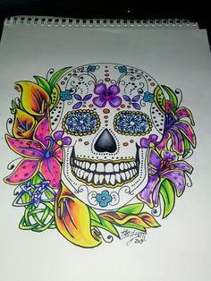 Dia de Los Muertos tattoo... Love!