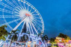 Ferris Wheel at Asiatique Riverfront Pattaya, Chiang Mai, Bangkok, Ferris Wheel, Fair Grounds, Travel, Asian, Viajes