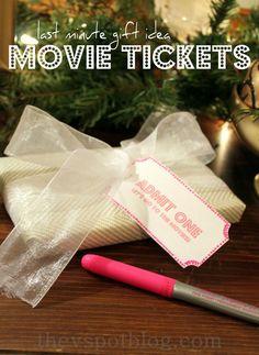 Last minute gift idea: Movie Tickets.
