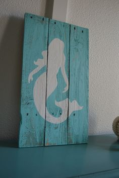 Wooden Mermaid Wall Hanging under the sea mermaid ocean nursery art set of 4 framed 8x10