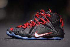 Nike LeBron 12 - Black - Bright Crimson - White - SneakerNews.com