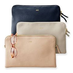 Any color - with monogram!! Daily Leather Zip Pouch #makeyourmark