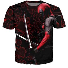 Deadpool Samurai 3D Premium Shirt