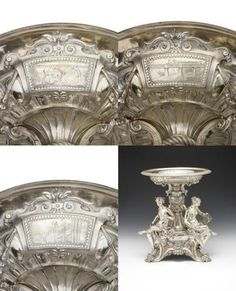 An impressive and important French silver table centrepiece by the firm of Froment-Meurice, Paris, third quarter of 19th century.